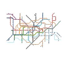 London Underground Pixel Map Photographic Print