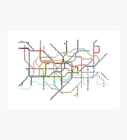 London Underground Pixel Map Photographic Print