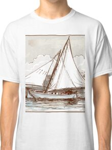 Vintage Sailing Ship on the Sea Classic T-Shirt
