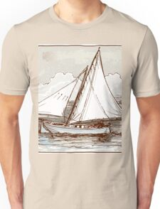 Vintage Sailing Ship on the Sea Unisex T-Shirt
