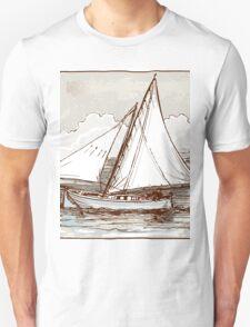 Vintage Sailing Ship on the Sea Unisex T-Shirt