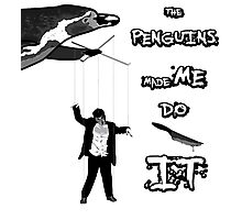 The penguins made me do it! Photographic Print