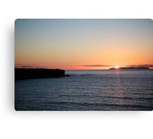 A 'Portuguese Sunset'  Canvas Print