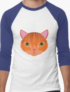 Ginger Tom Cat Men's Baseball ¾ T-Shirt