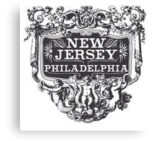 Vintage New Jersey Canvas Print