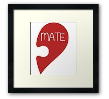 Soulmate Valentine's Day Love Heart Framed Print
