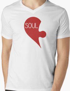 Soulmate Valentine's Day Love Heart Mens V-Neck T-Shirt
