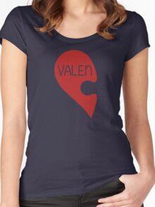 Valetine Valentine's Day Love Heart Women's Fitted Scoop T-Shirt