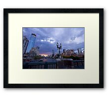Melbourne Skyline Framed Print