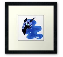 nightmare moon's face Framed Print