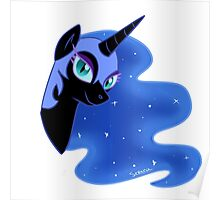 nightmare moon's face Poster