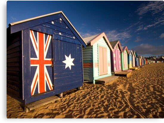 Brighton Beach Huts by AustralianImagery