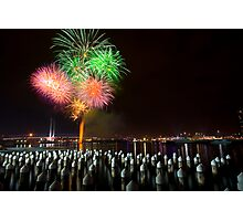 Fireworks at Docklands Photographic Print