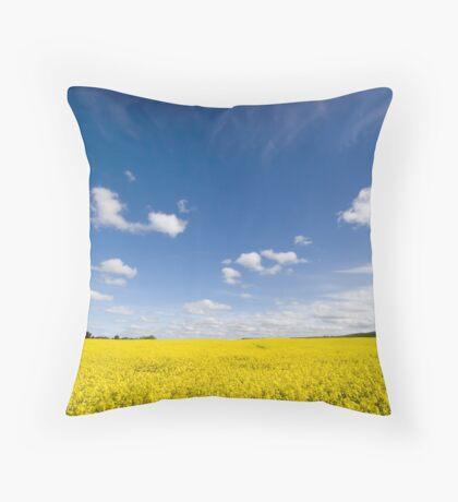 Canola / Rape Seed Field Throw Pillow