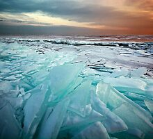 Ice Flow II - Lake Superior by Michael Treloar