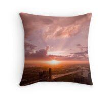 Melbourne at Sunset Throw Pillow