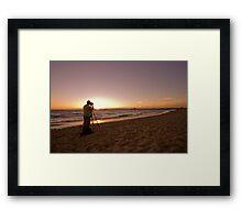 Sunset Photographer Framed Print