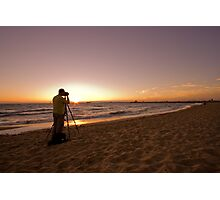 Sunset Photographer Photographic Print