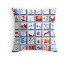 Stats Element Set in Various Colors Throw Pillow