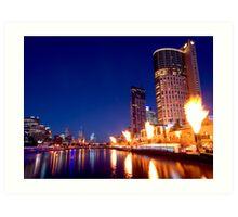 Crown Casino Fireshow, Melbourne Art Print