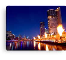 Crown Casino Fireshow, Melbourne Canvas Print