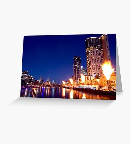 Crown Casino Fireshow, Melbourne Greeting Card