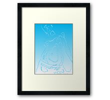 barely blu Framed Print