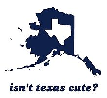 Isn't Texas Cute Compared to Alaska Photographic Print