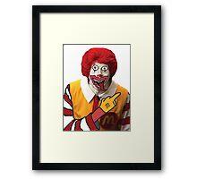 Rude Ronald McDonald Framed Print