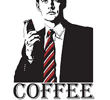 Agent Cooper from Twin Peaks - Damn Good Cup of Coffee and HOT - David Lynch Fans Rejoice by Kelmo