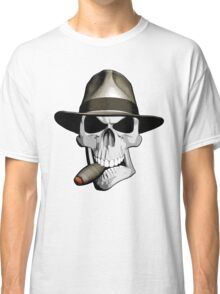 Skull Smoking Cigar Classic T-Shirt