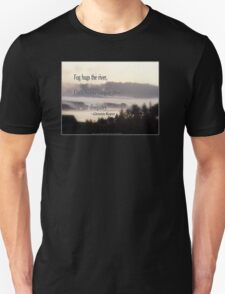 foggy sunrise, Columbia River, Oregon, Haiku T-Shirt