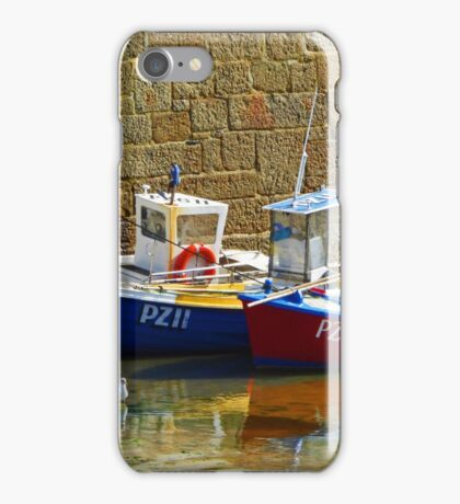 Mousehole Harbour 1 iPhone Case/Skin