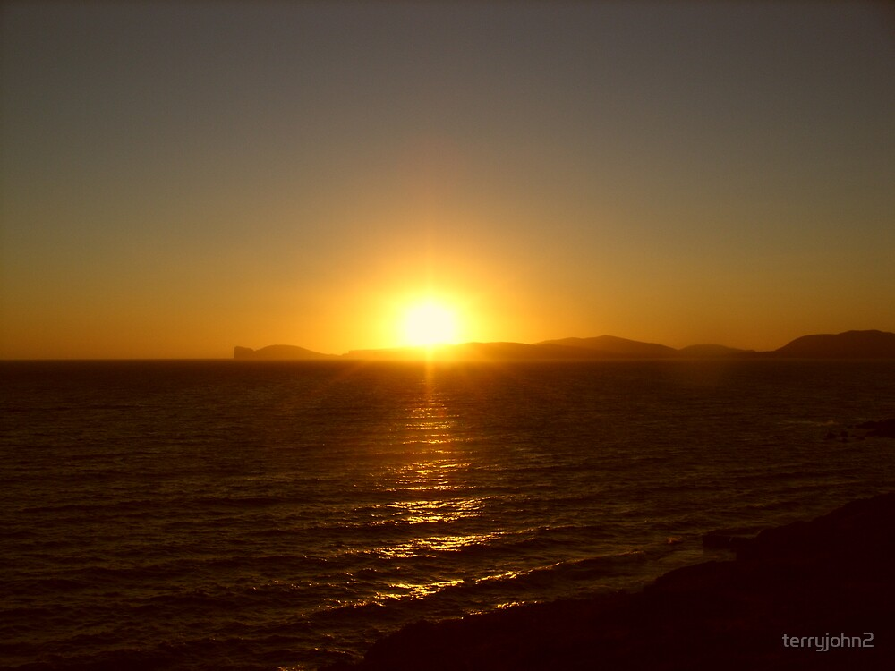 alghero sunset by terryjohn2