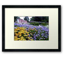 A walled garden Framed Print