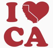 I Love California Heart by TheShirtYurt