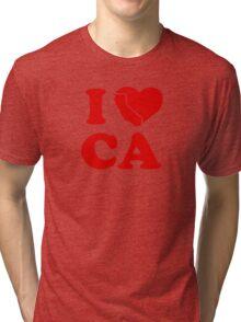 I Love California Heart Tri-blend T-Shirt