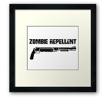 Zombie Repellent Framed Print