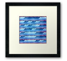 Blue plastic bars Framed Print