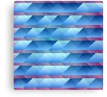 Blue plastic bars Canvas Print