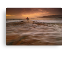 Wave Walking Canvas Print