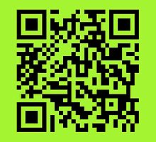 Barcode Rickroll! (black) by bitrot