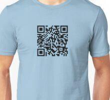 Barcode Rickroll! (black) Unisex T-Shirt