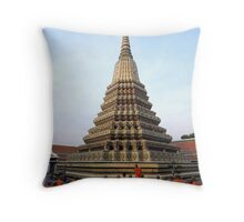 Monks At Wat Po Throw Pillow
