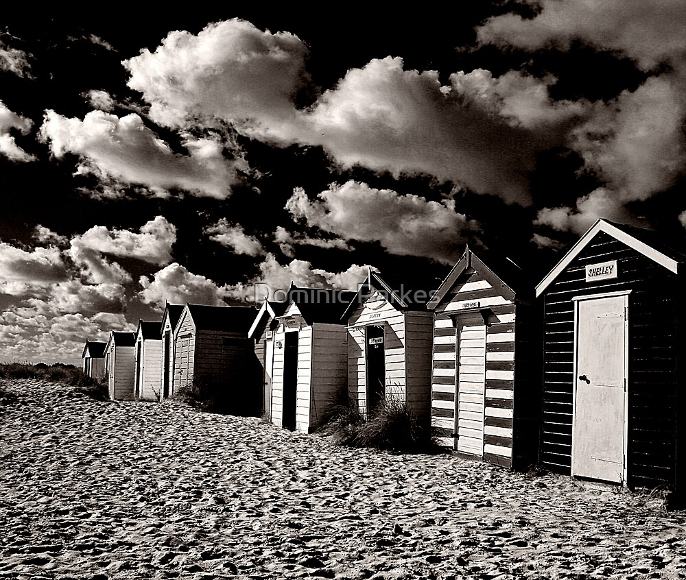 beach huts 2 by Dominic Parkes