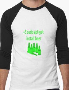 Linux sudo apt-get install beer Men's Baseball ¾ T-Shirt