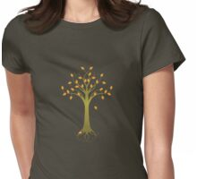 Fall Tree Womens Fitted T-Shirt