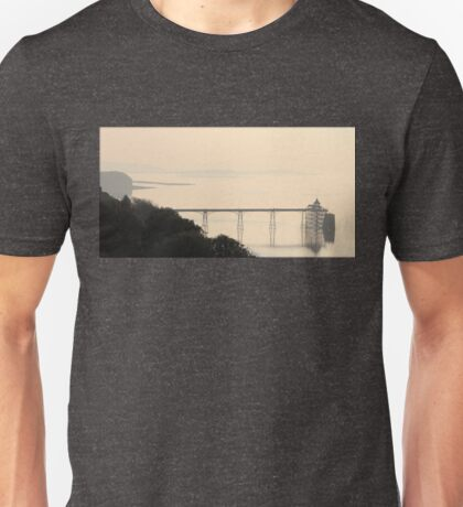 The Clevedon Pier on a Misty Morning Unisex T-Shirt