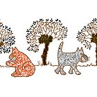cats 'n willows too by cuprum