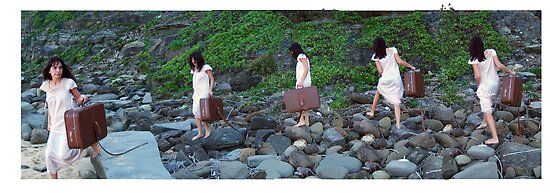 """""""I Carry the Suitcase"""" 2007 digital media by Tara  Standing"""